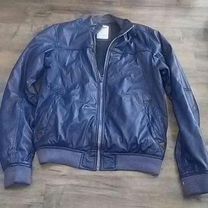 Pull & Bear blue bomber jacket